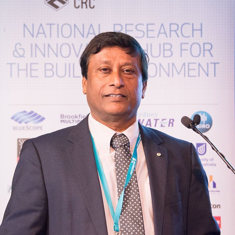 Deo Prasad at a National Research & Innovation Hub for the Built Environment conference